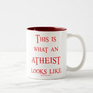Look! Atheist! Two-Tone Mug