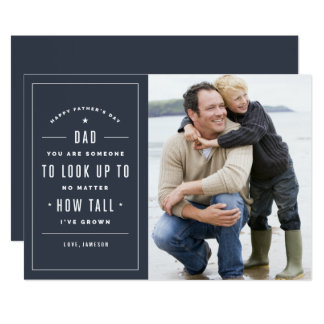 Look Up To Father's Day Card