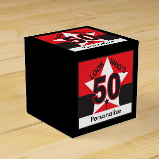 Look Who's 50 Birthday Favour Box