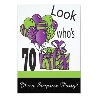 Look Who's 70 | 70th Birthday 13 Cm X 18 Cm Invitation Card