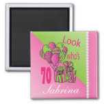 Look Who's 70 | 70th Birthday | Personalise Square Magnet