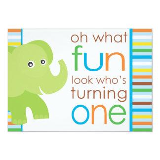 Look Who's Turning One - Elephant Invites