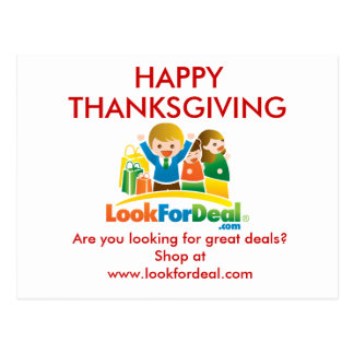 LookForDeal-PostCard-Thanksgiving Postcard