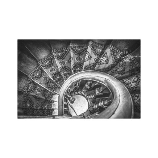 Looking down staircases, Lanarch Castle Dunedin NZ Stretched Canvas Prints