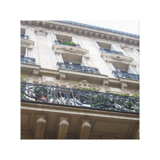 Looking up at French Balconies Canvas Print