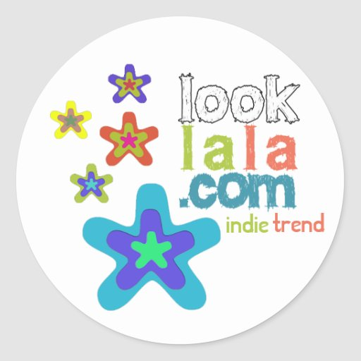 looklala is indie trend round sticker