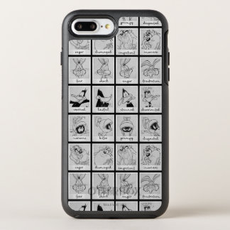 LOONEY TUNES™ Character Emotion Chart OtterBox Symmetry iPhone 8 Plus/7 Plus Case