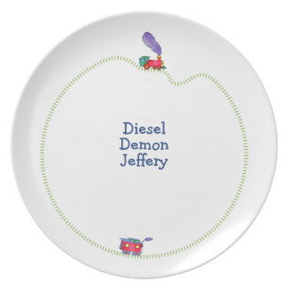 Loose Caboose Clickety Clack Train Plate