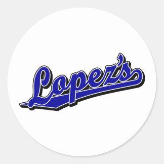 Lopez's in Blue Classic Round Sticker