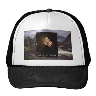 """Lord Byron """"Sweet Voice"""" Quote Gifts Tees Mugs Etc Trucker Hat"""