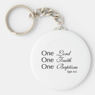Lord Faith Baptism Basic Round Button Key Ring
