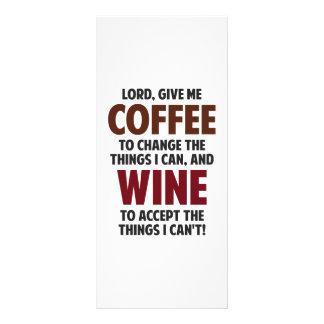 Lord, Give Me Coffee And Wine Custom Rack Cards