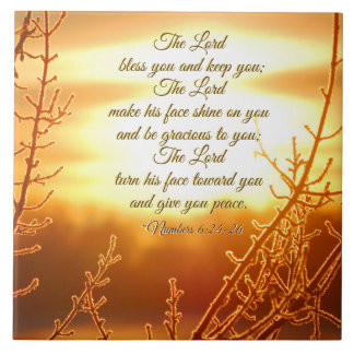 Lord's Blessing Numbers 6:24-26 Bible Verse Tile