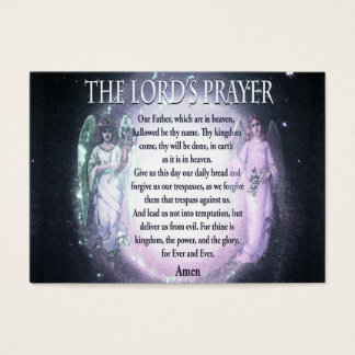 Lord's Prayer Business Card