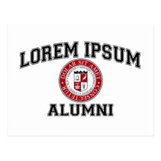 Lorem Ipsum University College Alumni Dummy Latin Postcard