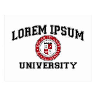 Lorem Ipsum University College Alumni Dummy Latin Post Cards