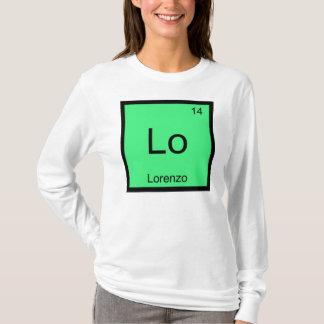 Lorenzo  Name Chemistry Element Periodic Table T-Shirt