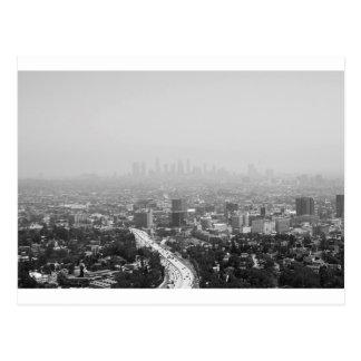 Los Angeles Black And White Skyline Postcard