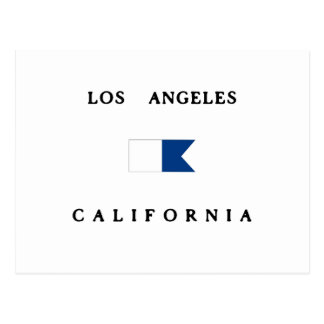 Los Angeles California Alpha Dive Flag Postcard