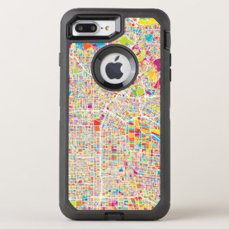 Los Angeles, California | Colorful Map OtterBox Defender iPhone 8 Plus/7 Plus Case