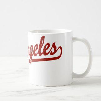 Los Angeles script logo in red Coffee Mug
