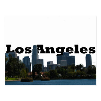 Los Angeles Skyline with Los Angeles in the Sky Postcard