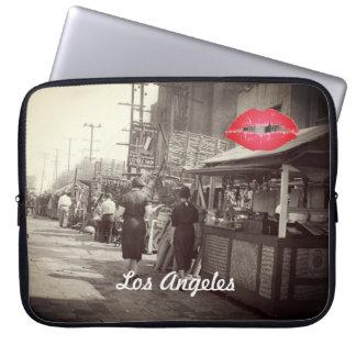 Los Angles California 1935 Olivera Street Photo Laptop Sleeve