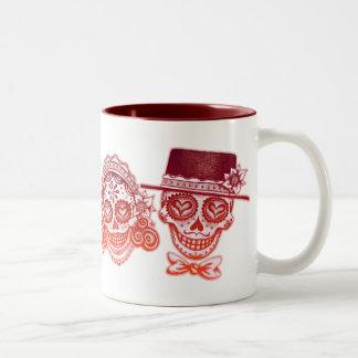 Los Novios - Dia de los Muertos Drinkware Two-Tone Coffee Mug