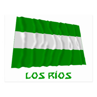 Los Ríos waving flag with Name Postcard