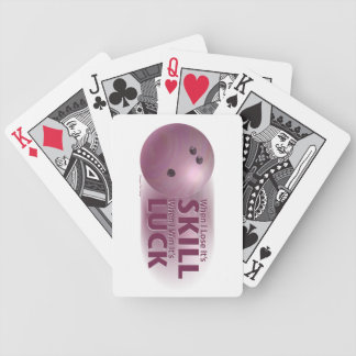 Lose Skill Win Luck Bowling Pink Bicycle Playing Cards