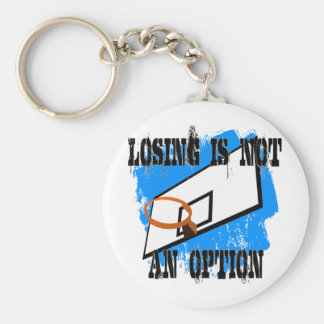 Losing is Not An Option Basic Round Button Key Ring