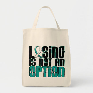 Losing Is Not An Option Cervical Cancer Grocery Tote Bag