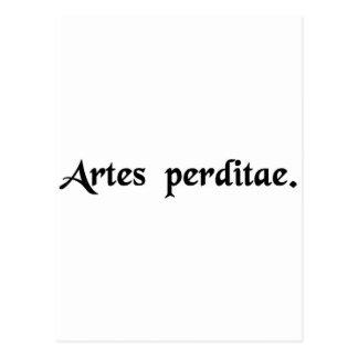 Lost arts. post card