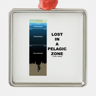 Lost In A Pelagic Zone (Oceanography Humor) Christmas Ornament