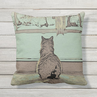Lost in Thought Outdoor Cushion