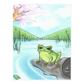 Lost Lullaby Frog Lullaby Postcard
