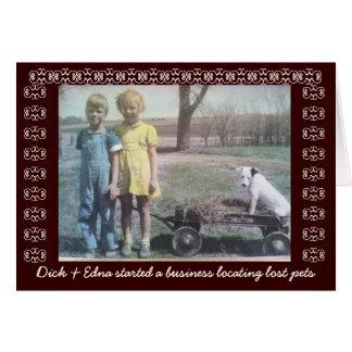 Lost Pets -  Vintage Card