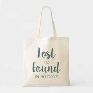 Lost to Found in 90 Days Logo Tote Bag