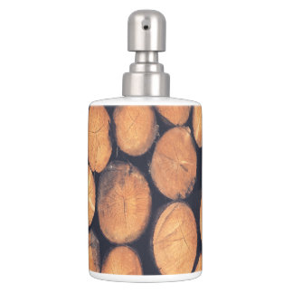 lotion toothbrush abstract wood logs toothbrush holders