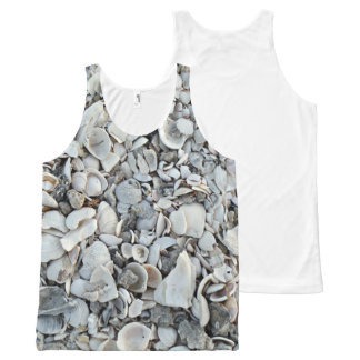 Lots and Lots of Sea Shells All-Over Print Singlet