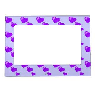 Lots of Love (Heart Pattern) (Purple) Magnetic Frame