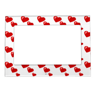 Lots of Love (Heart Pattern) (Red) Magnetic Picture Frame