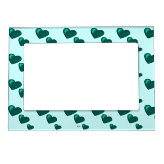 Lots of Love (Heart Pattern) (Teal Green) Magnetic Picture Frame
