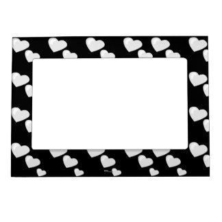 Lots of Love (Heart Pattern) (White) Magnetic Frames