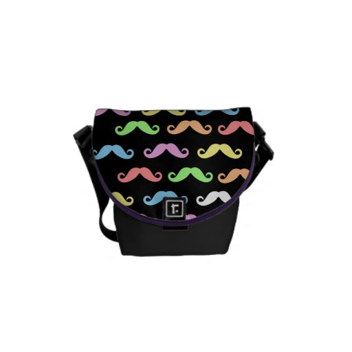 Lots of Moustaches (black) Commuter Bag