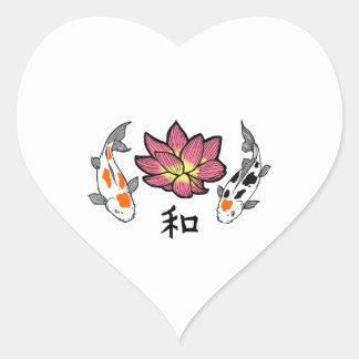 LOTUS APPLIQUE PEACE HEART STICKERS