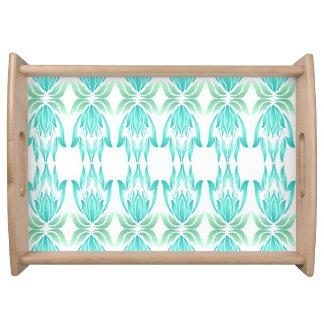 Lotus Block Zen Print Kitchen Wood Tray