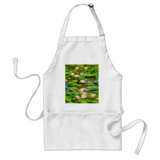Lotus Blossoms On The Protected Forest Lake Adult Apron