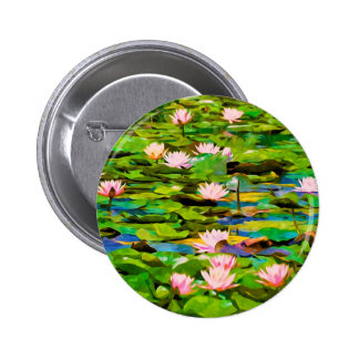 Lotus Blossoms On The Protected Forest Lake Pinback Button