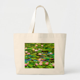 Lotus Blossoms On The Protected Forest Lake Bag